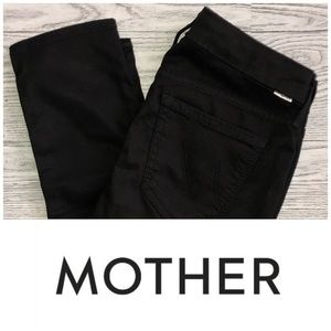 MOTHER | The Looker Crop Black (Size 26)